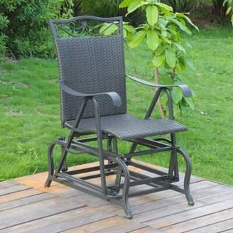 Charlton Home Stapleton Patio Glider Chair Charlton Home Finish: Antique Black