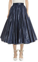 Calvin Klein Very Full-Circle Nylon Skirt
