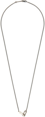 Pearls Before Swine Silver Double Link Pendant Necklace
