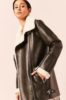 Forever 21 Free Generation Faux Leather & Shearling Jacket