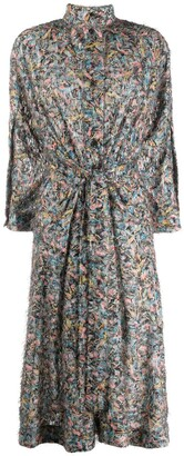 Henrik Vibskov Floral Tie-Waist Shirt Dress