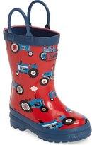 Hatley Farm Tractors Waterproof Rain Boot (Walker, Toddler & Little Kid)