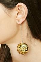 Forever 21 FOREVER 21+ Sequined Ball Drop Earrings