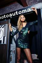 boohoo Boutique Ava Metallic Sequin Bodycon Dress green