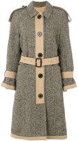 Burberry tweed trench coat