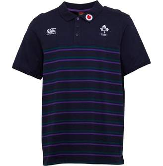 Canterbury of New Zealand Mens Ireland Rugby Cotton Jersey Stripe Polo Navy Blazer Marl
