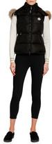 Moncler Gallinule Puffer Vest w/ Detachable Fur-Trim Hood