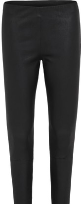 West 14th West Broadway Legging In Black Stretch Leather