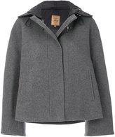 Fay cropped cape coat