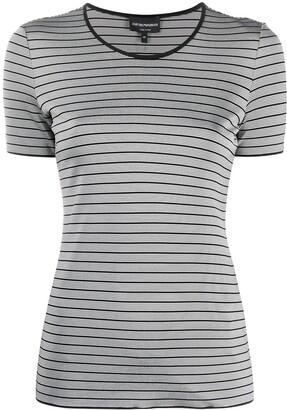 Emporio Armani stripe-print crew neck T-Shirt