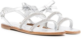 MonnaLisa TEEN embellished metallic sandals