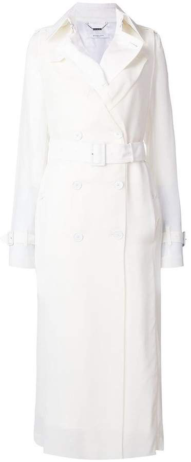 Givenchy belted fitted trench coat