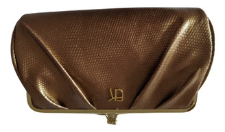 Emmanuelle Khanh Gold Patent leather Clutch bags