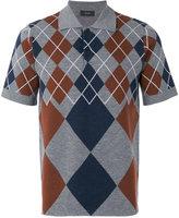 Joseph Argyle knit polo shirt