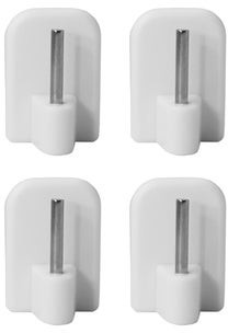 Evideco Self Adhesive Hooks Sash Rod Kitchen Curtains Set of 4 - n/a
