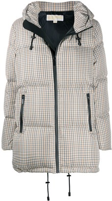 MICHAEL Michael Kors Checked Padded Coat