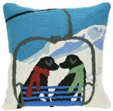 "Liora Manné Frontporch Ski Lift Love Dog Pillow Blue - (18""x18"") Square"