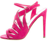 Sergio Rossi Suede Cutout Sandals w/ Tags