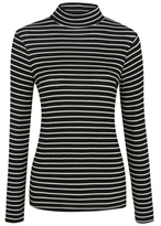 George Ribbed Roll-Neck Top