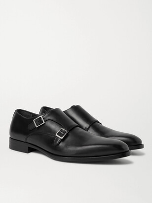 Dunhill Leather Monk-strap Shoes - Black