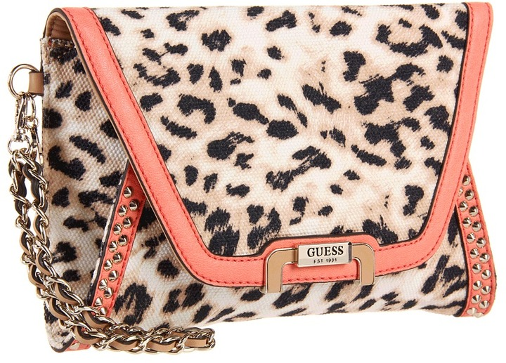 GUESS Caytie Small Envelope Clutch (Coral) - Bags and Luggage
