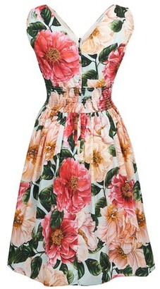 Dolce & Gabbana Camelia Acqua dress