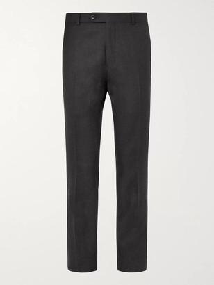 Mr P. Slim-Fit Black Worsted Wool Trousers - Men - Gray