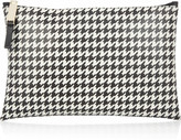 Houndstooth-print PVC pouch