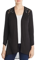 Avec Open Front Lace Trim Cardigan