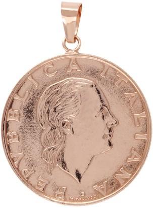 Italian Gold 200 Lire Coin Pendant, 14K
