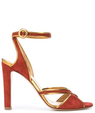 Francesco Russo Piped-Leather Cross-Strap Sandals