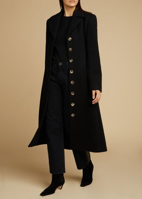 KHAITE The Georgina Coat in Black