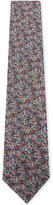 Duchamp Micro floral textured silk tie