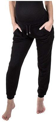 Modern Eternity French Terry Maternity Joggers (Black) Women's Casual Pants