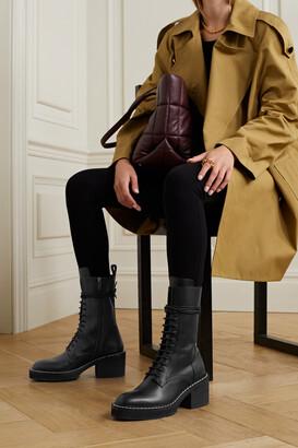 KHAITE Cody Leather Ankle Boots