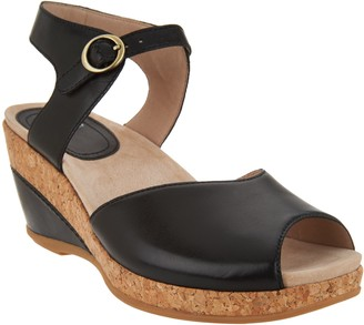 Dansko Leather or Suede Wedge Sandals - Charlotte