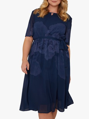 Chi Chi London Curve Seymour Dress, Navy
