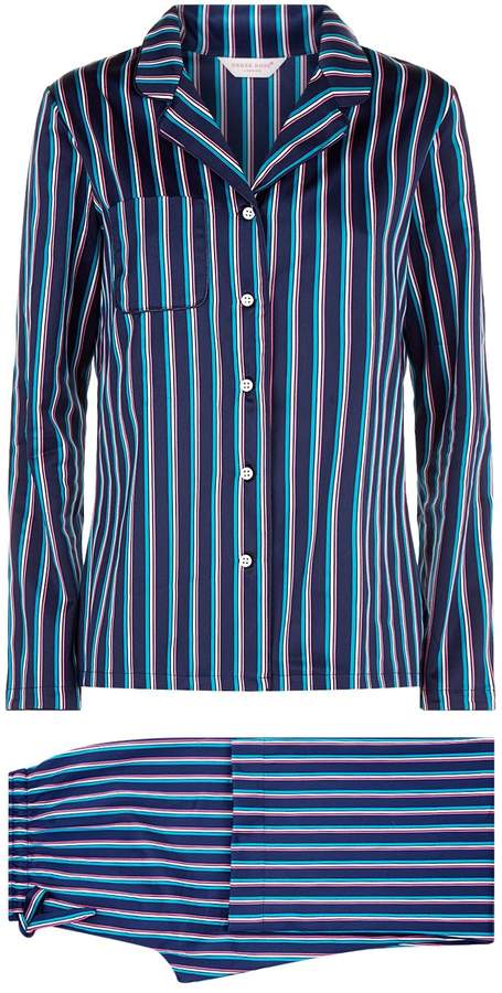 Derek Rose Wellington Striped Pyjama Set