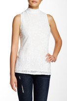 Willow & Clay Mock Neck Lace Tank
