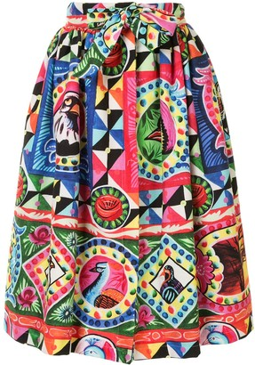 Stella Jean Pop Art Print Pleated Skirt