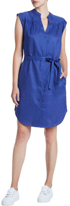 Marcs Sapphire Washed Linen Dress
