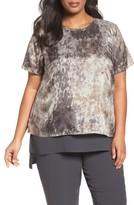 Eileen Fisher Plus Size Women's Tidewater Silk Top