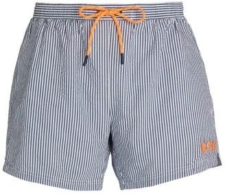 BOSS Stripe Seersucker Swim Shorts