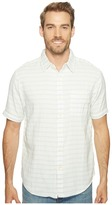 True Grit Indigo Surf Plaid Short Sleeve Shirt Men's Clothing