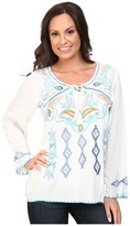 Scully Daniela Embroidered Top