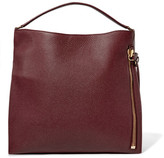 Tom Ford Alix Large Textured-leather Tote - Burgundy