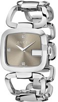 Gucci Women's YA125401 G Medium Diamond Dial Steel Watch