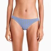 J.Crew Hipster bikini bottom in Italian seersucker