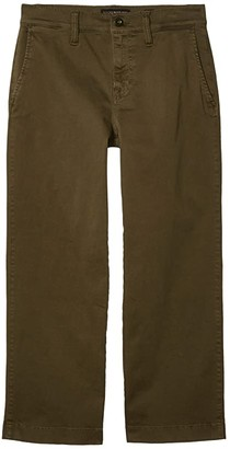 Lucky Brand Mid-Rise Crop Wide Leg Jeans in Olive Night (Olive Night) Women's Jeans