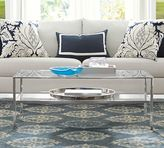 Pottery Barn Tanner Rectangular Coffee Table - Polished Nickel finish